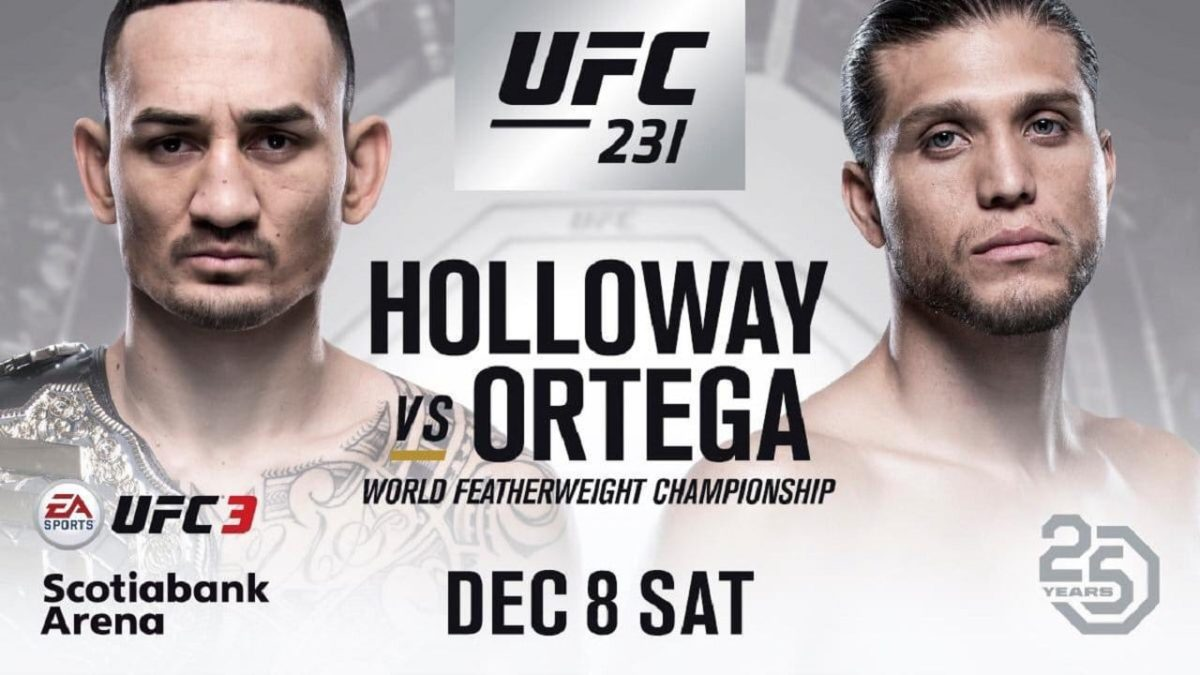 Анонс боёв UFC 231: HOLLOWAY VS. ORTEGA